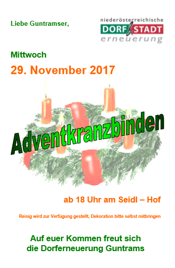 2017 Adventkranzbinden