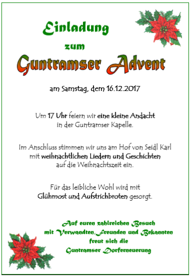 2017 Guntramser Advent
