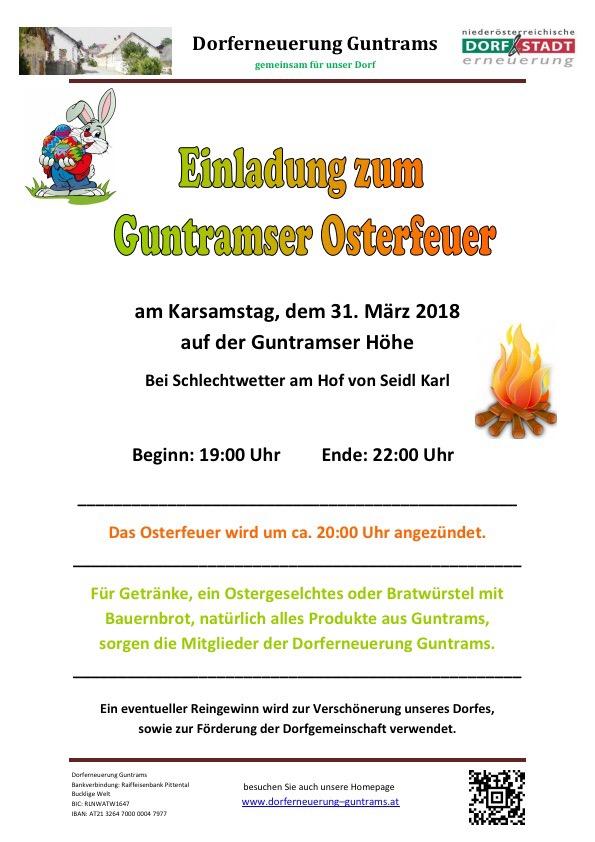 Einladung Osterfeuer 2018